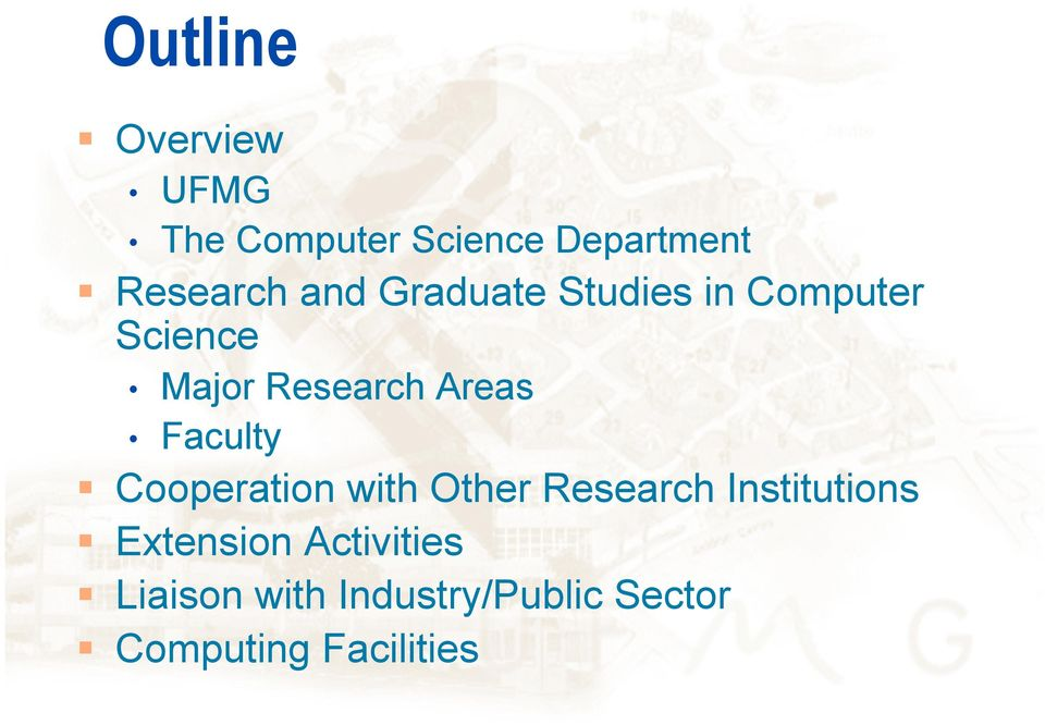 Faculty Cooperation with Other Research Institutions Extension