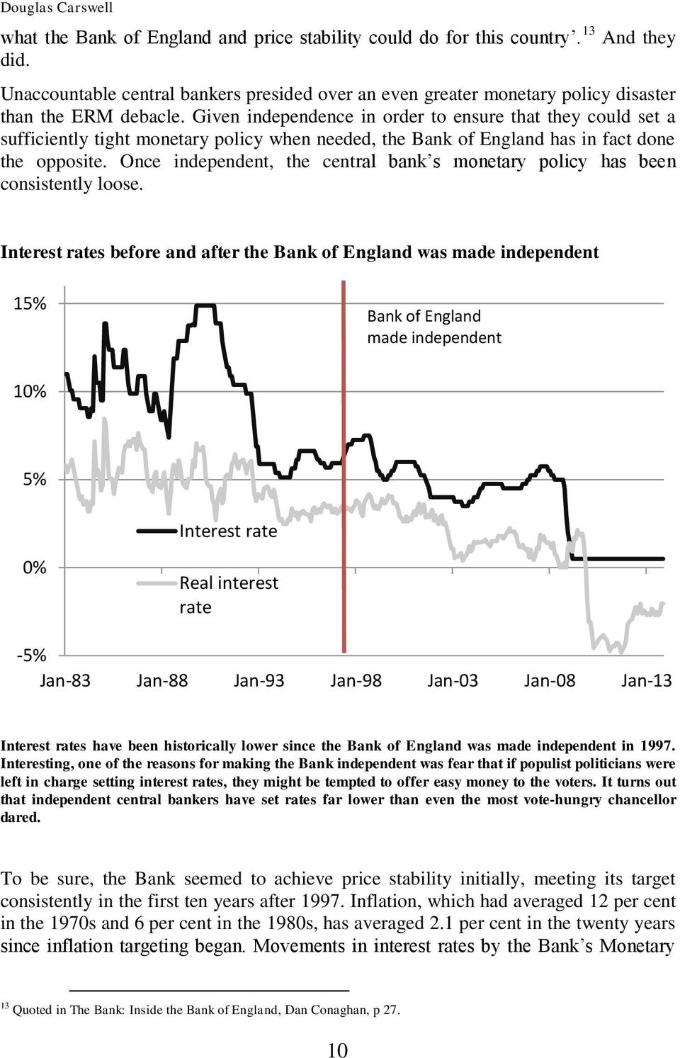 Given independence in order to ensure that they could set a sufficiently tight monetary policy when needed, the Bank of England has in fact done the opposite.