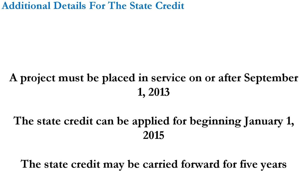 state credit can be applied for beginning January 1,