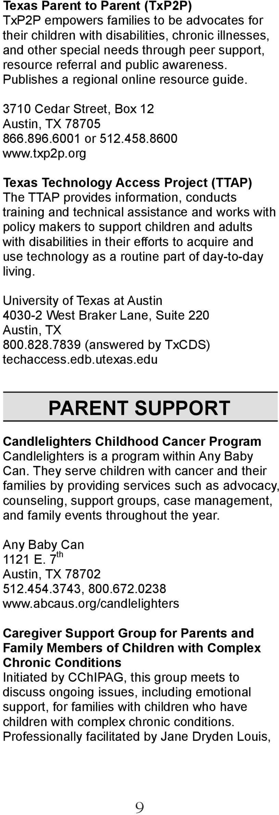austin area resource guide for children with special needs pdf rh docplayer net Case Management Resource Guide Resource Guides for Youth Services