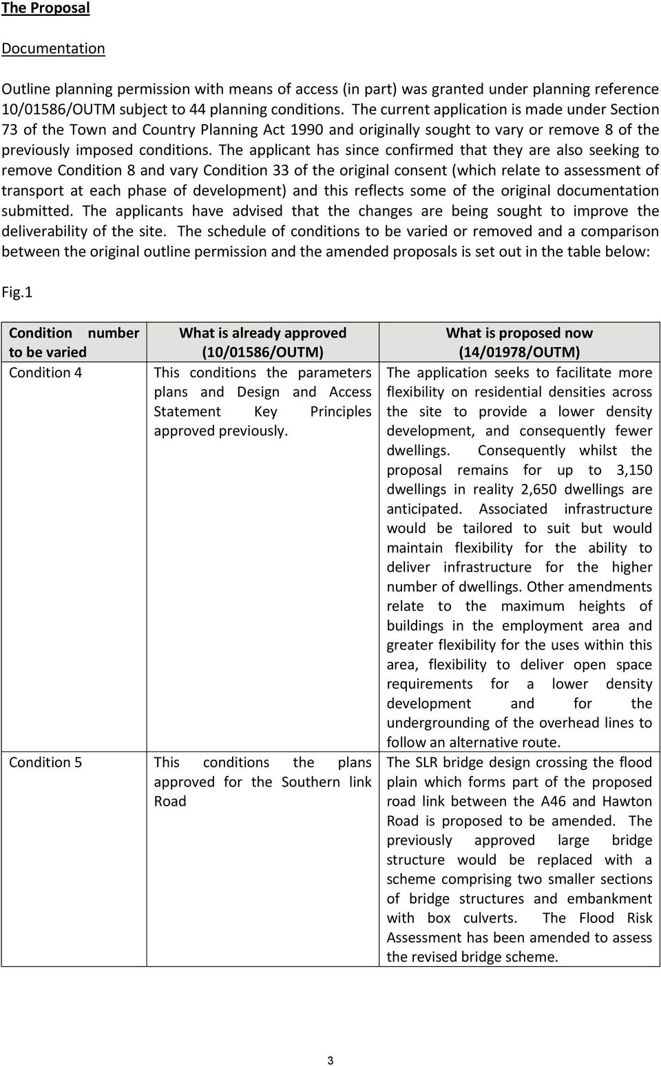 The applicant has since confirmed that they are also seeking to remove Condition 8 and vary Condition 33 of the original consent (which relate to assessment of transport at each phase of development)