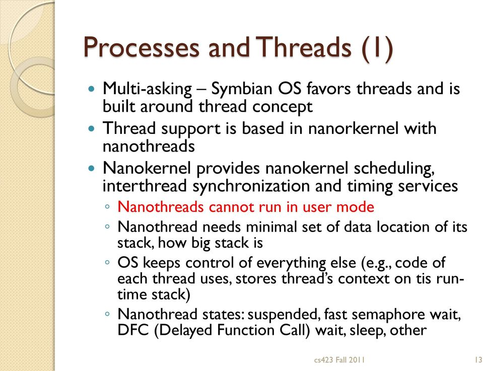Nanothread needs minimal set of data location of its stack, how big
