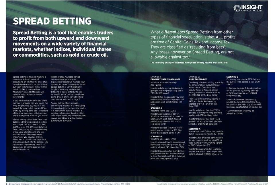 They are classified as resulting from bets. Any losses however on Spread Betting, are not allowable against tax.