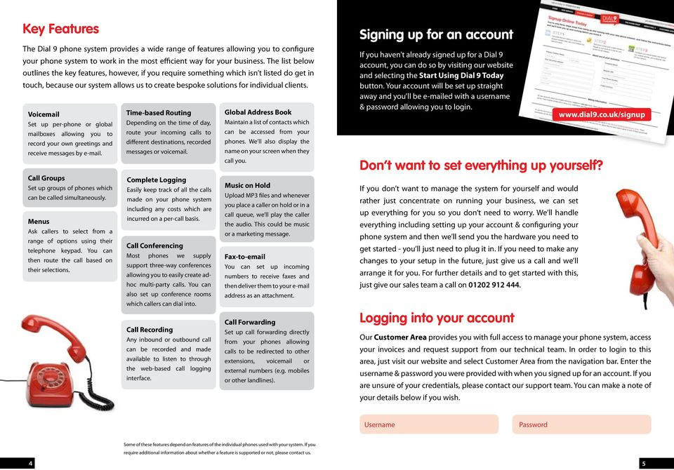 The affordable phone system for businesses & freelancers - PDF