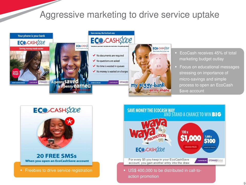 of micro-savings and simple process to open an EcoCash $ave account Freebies to