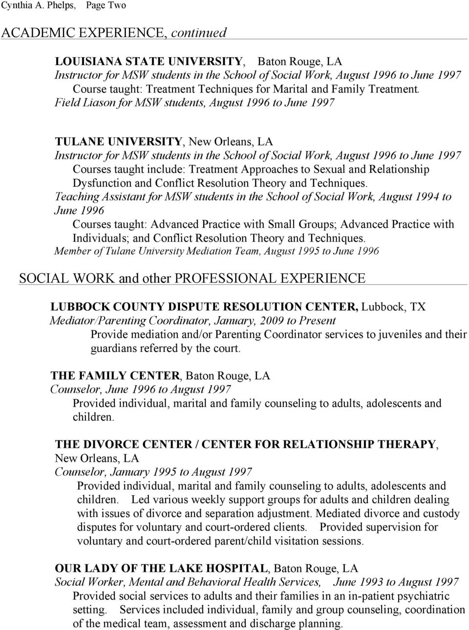 Techniques for Marital and Family Treatment.