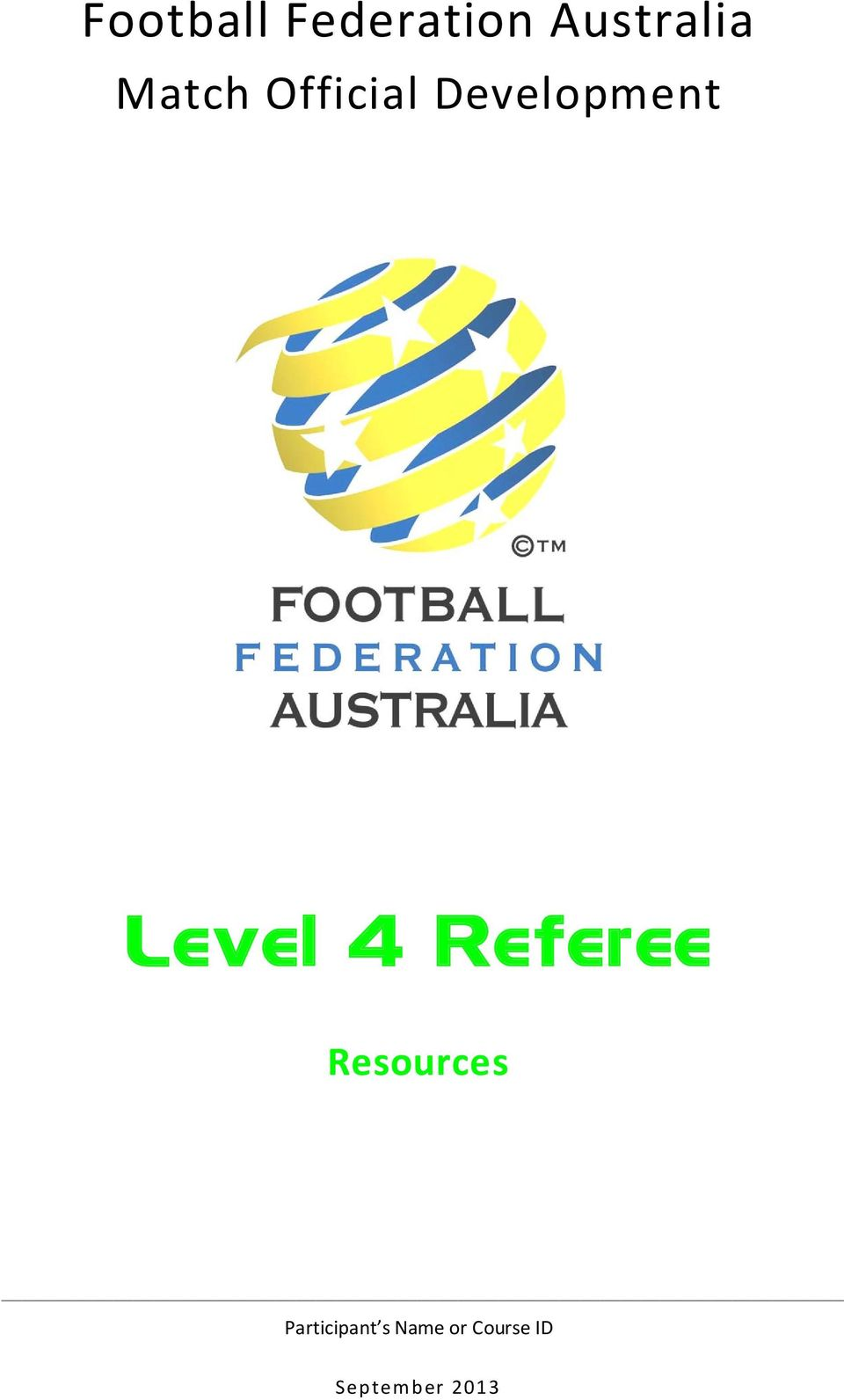 4 Referee Resources Participant