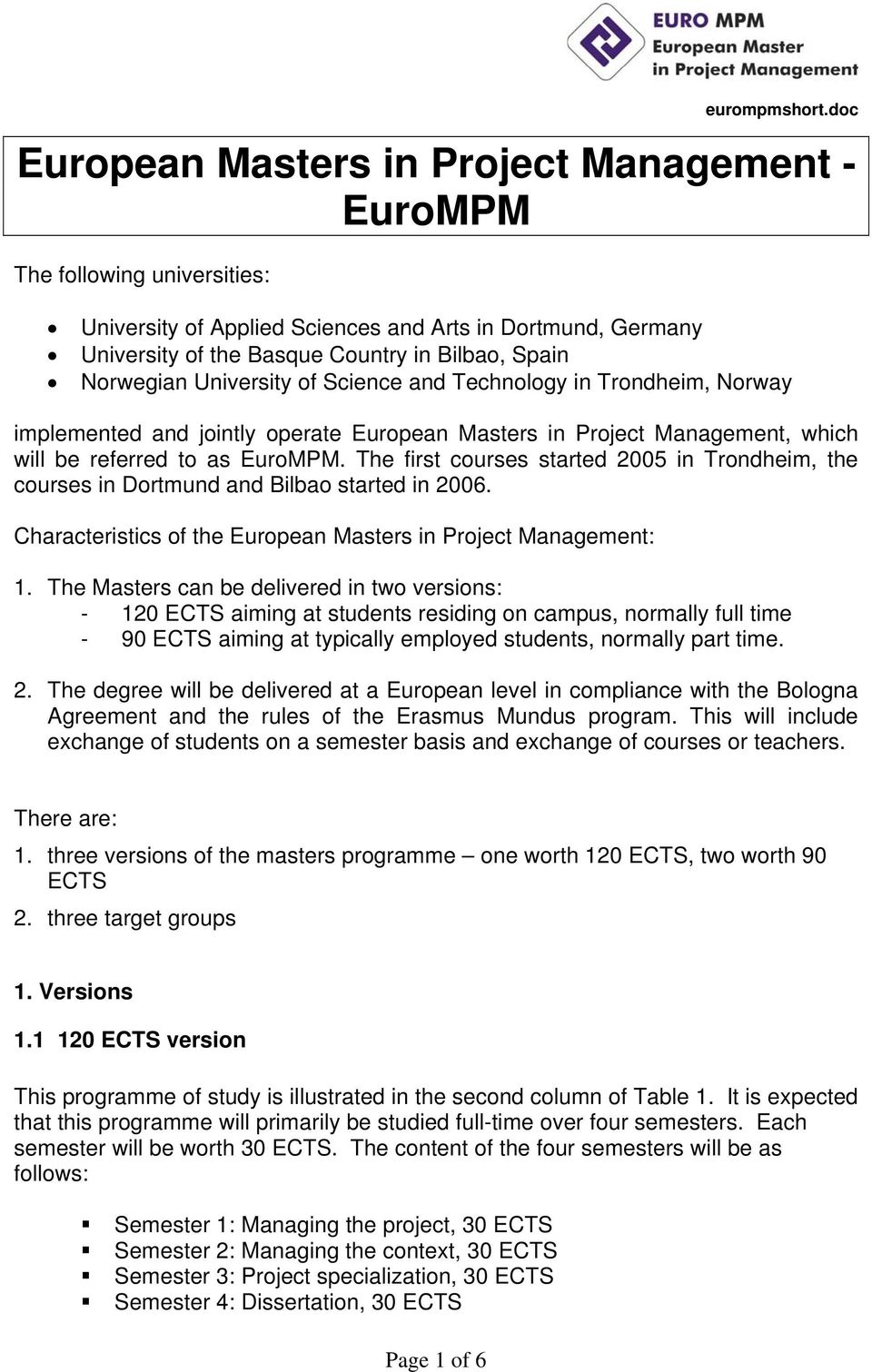 European Masters In Project Management Eurompm Pdf Free Download