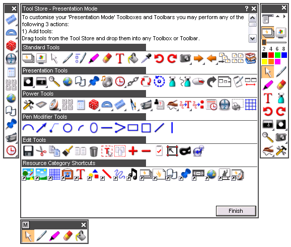 Extra tools in the Tool Store Previously, some of Activstudio s most popular icons, such as the Straight Line tool and the My Images icon, were not available in the