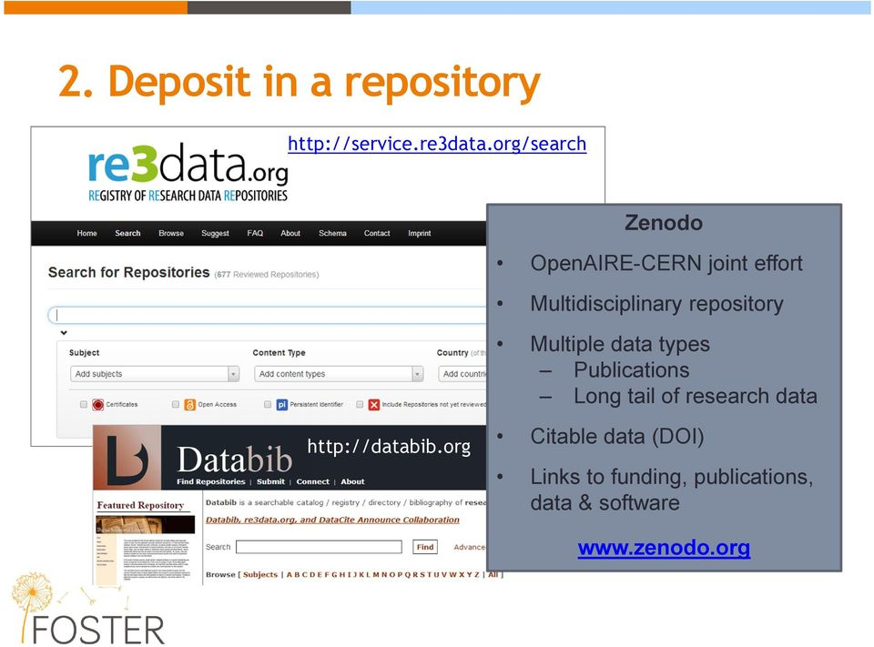 repository Multiple data types Publications Long tail of research data