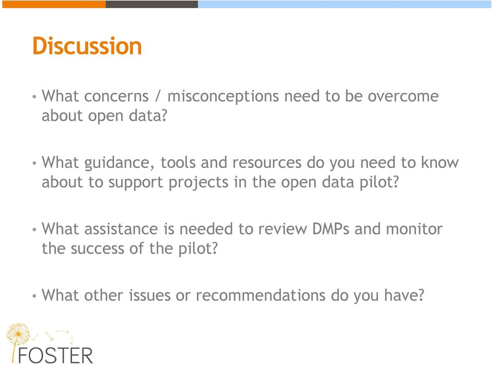 projects in the open data pilot?