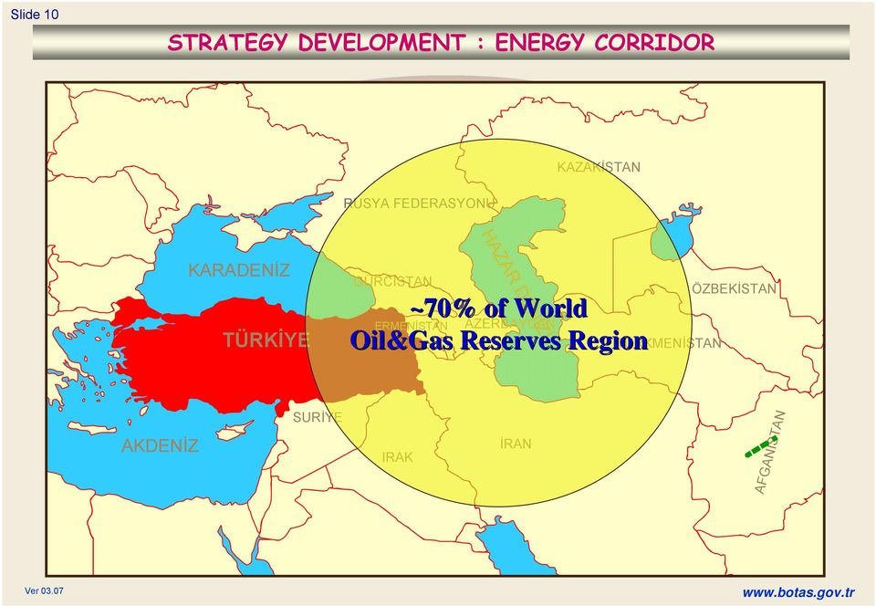 ~70% of World ERMENİSTAN AZERBAYCAN Oil&Gas Reserves Region