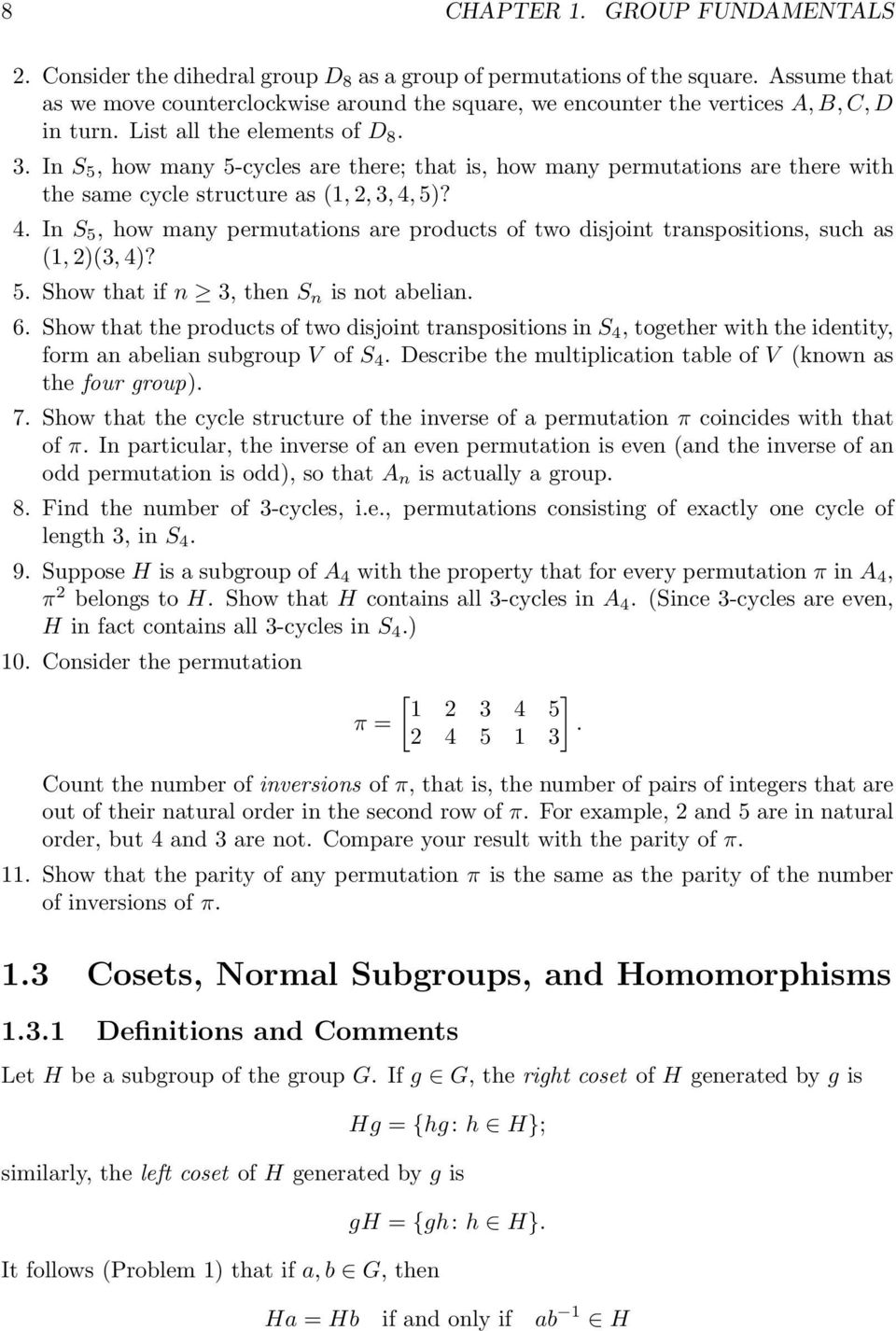 In S 5, how many 5-cycles are there; that is, how many permutations are there with the same cycle structure as (1, 2, 3, 4,