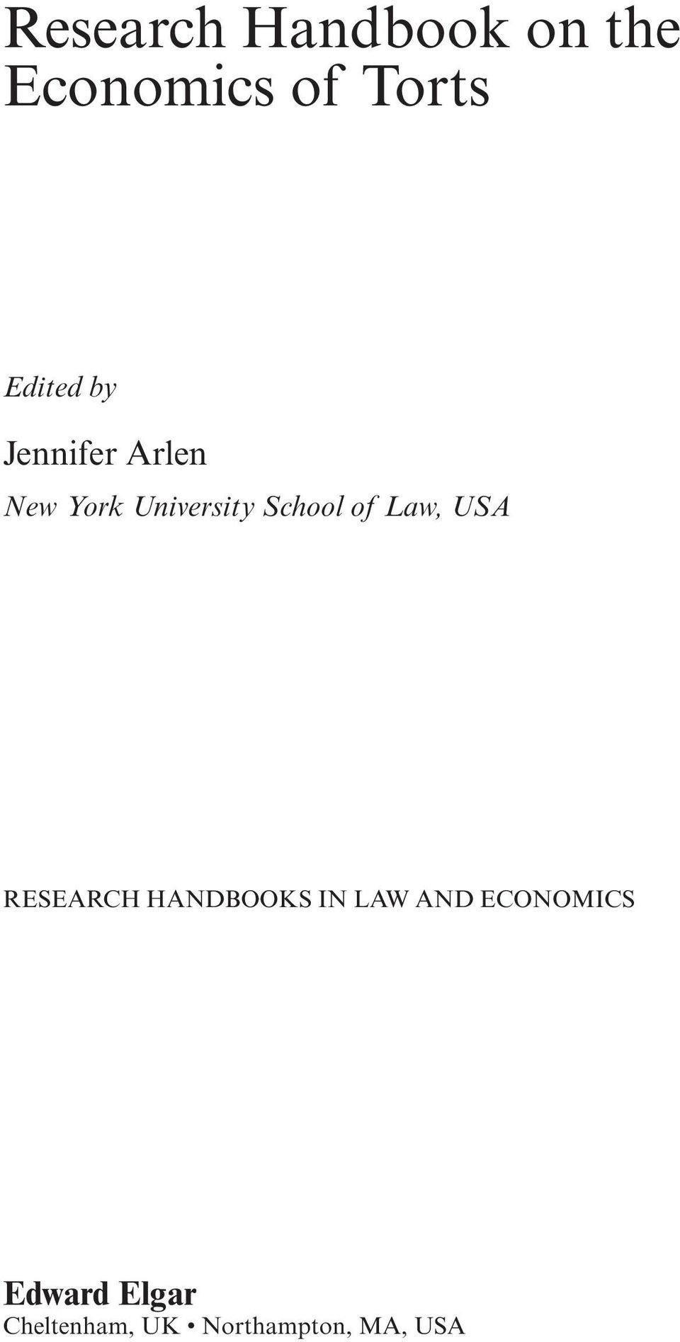 new york university law & economics research paper series Do criminal laws influence hiv risk behavior an empirical trial arizona state law journal, 2007  temple university beasley school of law legal studies research paper series.