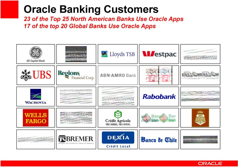 Banks Use Oracle Apps 17 of