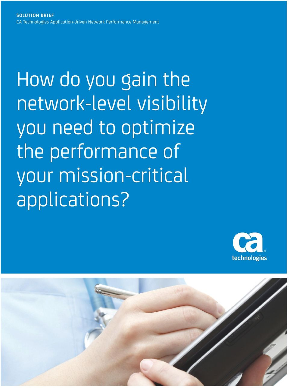 network-level visibility you need to optimize the