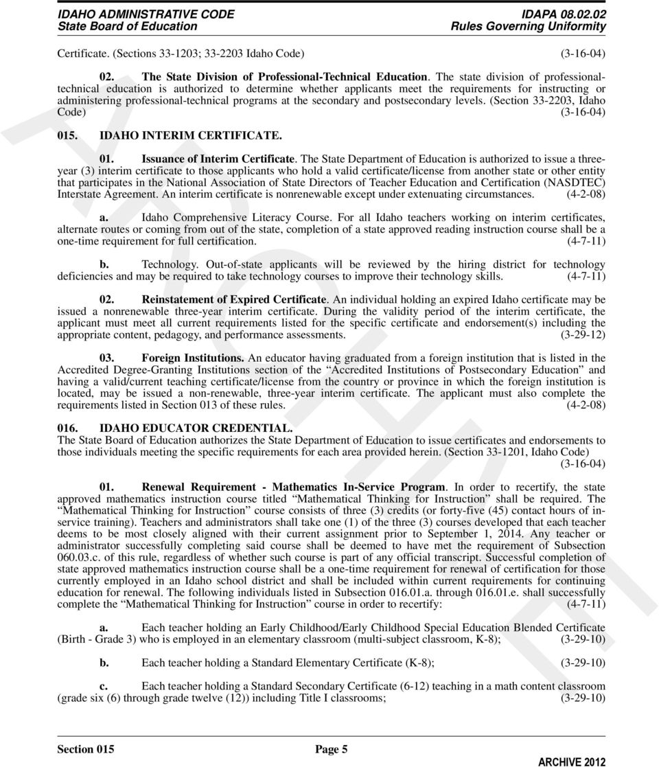 Archive Table Of Contents Rules Governing Uniformity Pdf