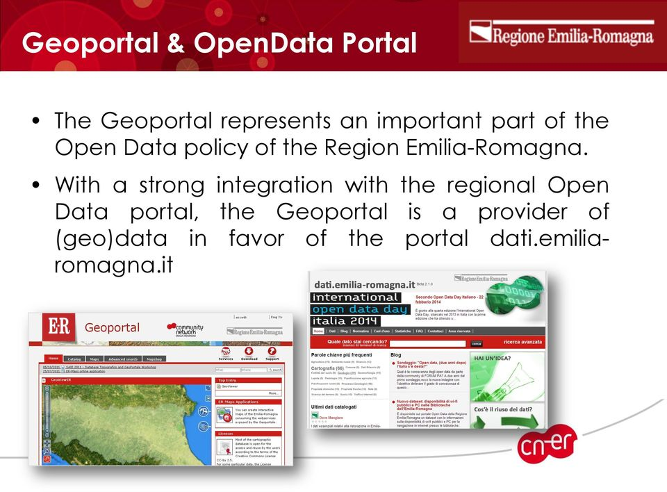 With a strong integration with the regional Open Data portal, the