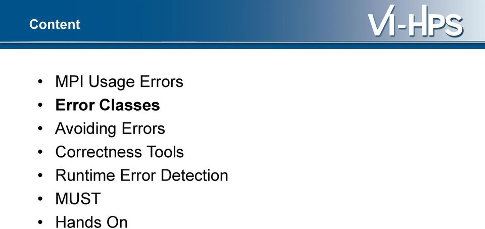 Errors Correctness Tools