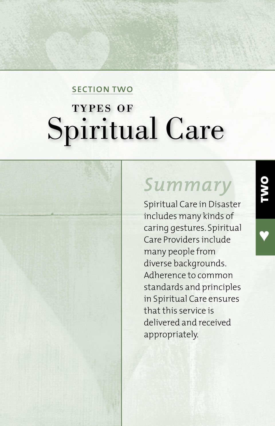 Spiritual Care Providers include many people from diverse backgrounds.
