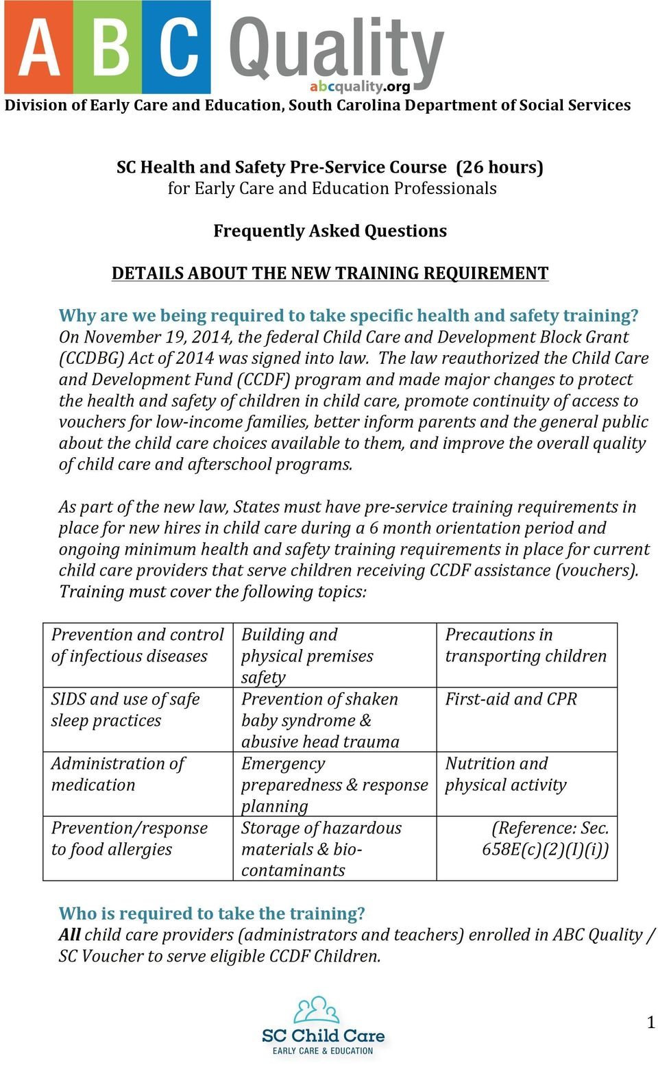 Frequently asked questions pdf on november 19 2014 the federal child care and development block grant ccdbg fandeluxe Choice Image