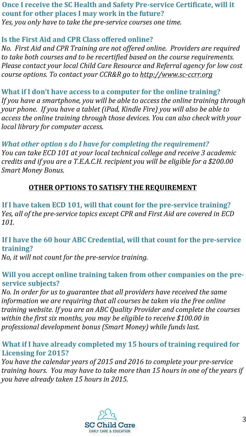 Frequently asked questions pdf providers are required to take both courses and to be recertified based on the course requirements fandeluxe Choice Image