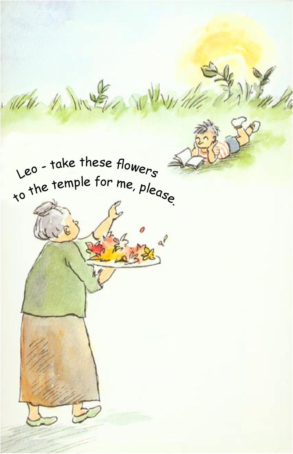 to the temple