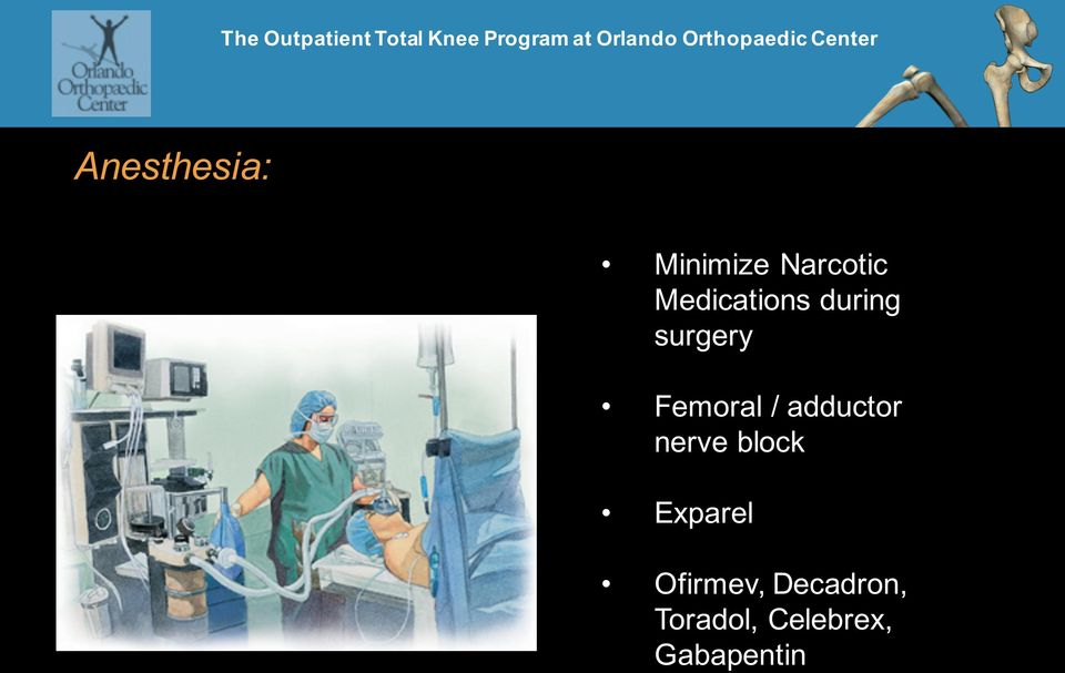 / adductor nerve block Exparel