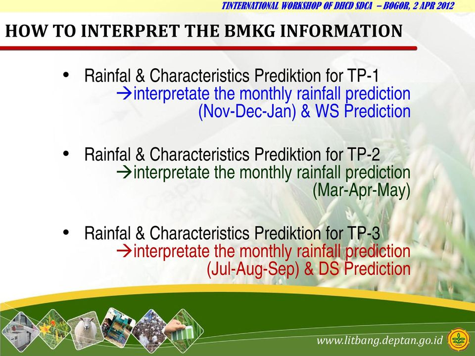 Characteristics Prediktion for TP-2 interpretate the monthly rainfall prediction (Mar-Apr-May)