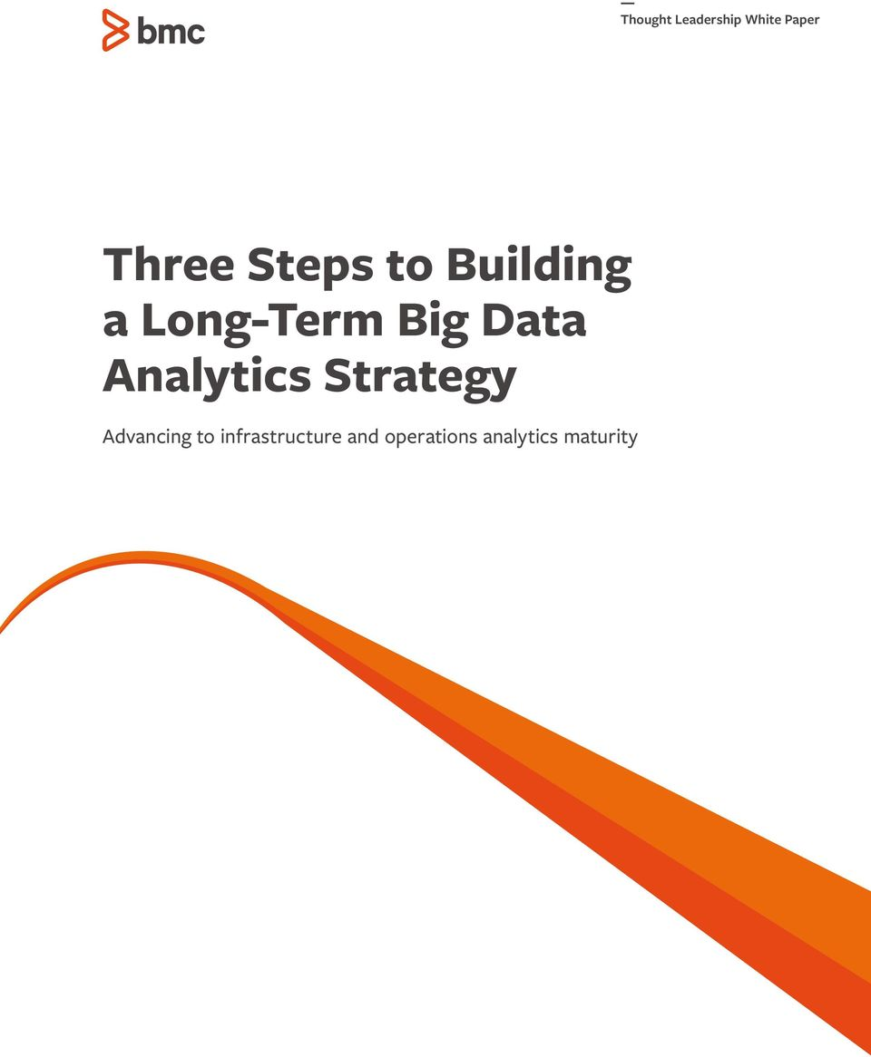Analytics Strategy Advancing to