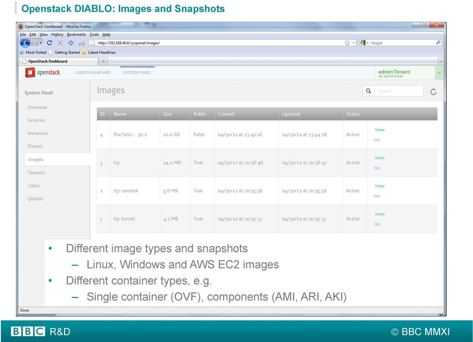 Windows and AWS EC2 images Different container