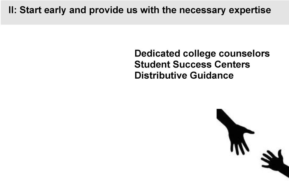 counselors Student Success Centers