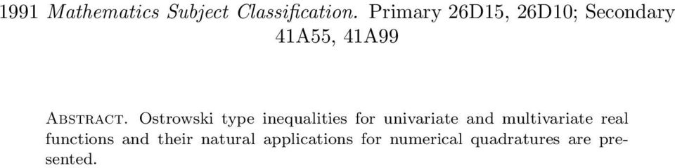inequlities for univrite nd multivrite rel