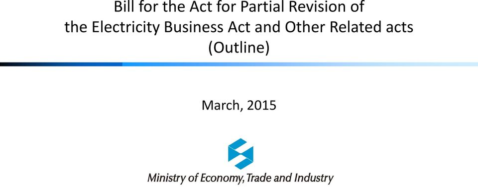 Business Act and Other