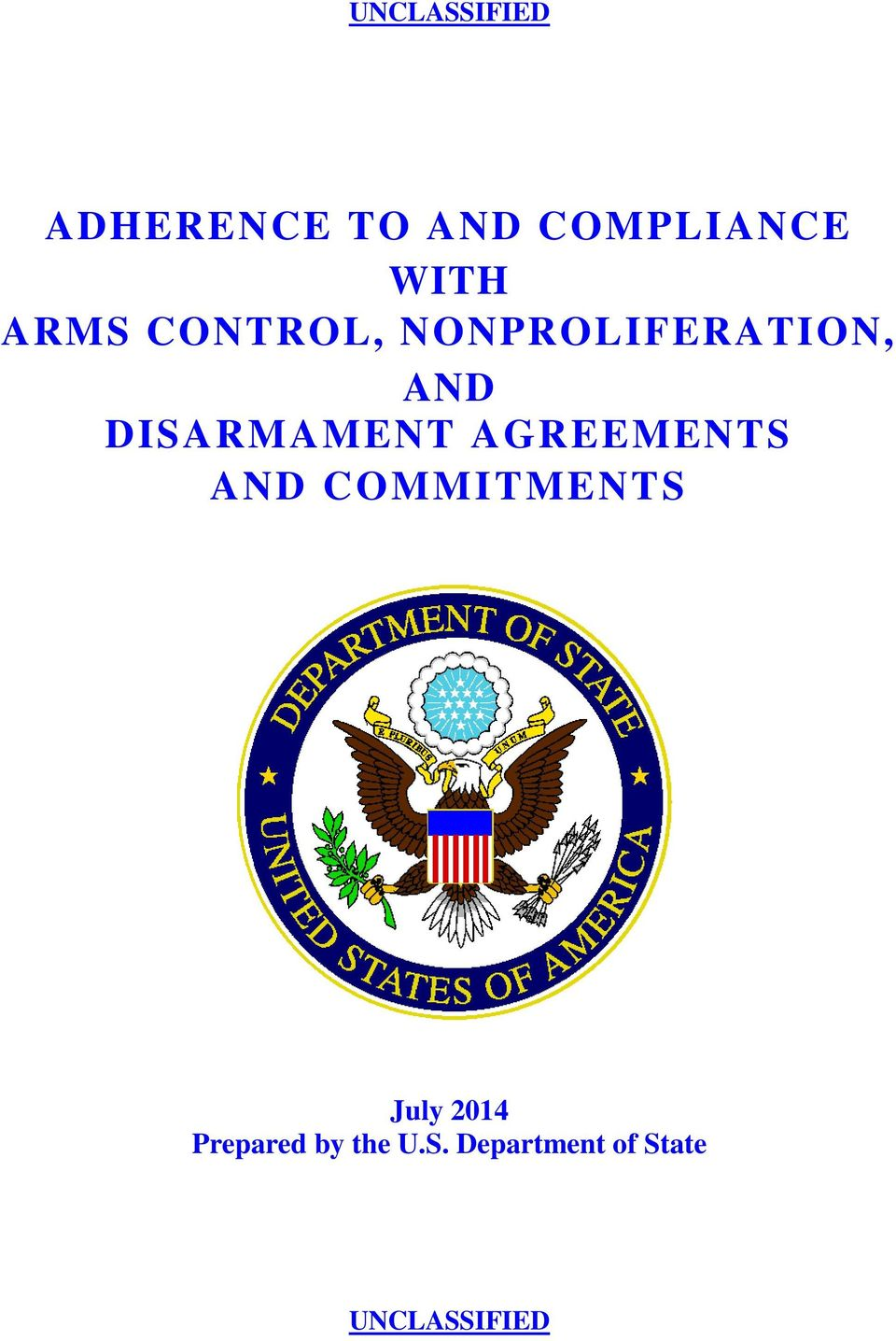 DISARMAMENT AGREEMENTS AND COMMITMENTS