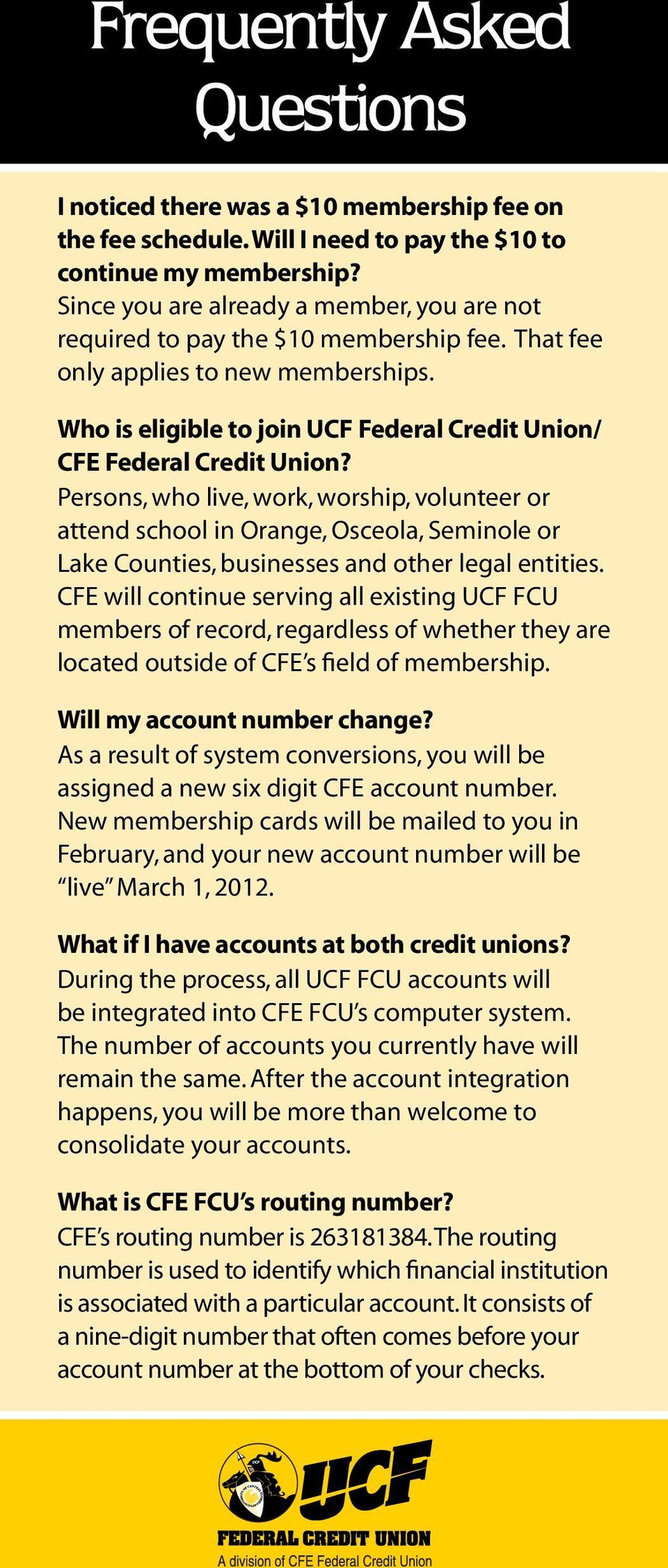 Who is eligible to join UCF Federal Credit Union/ CFE Federal Credit Union?