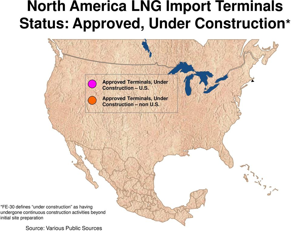 Approved Terminals, Under Construction non U.S.