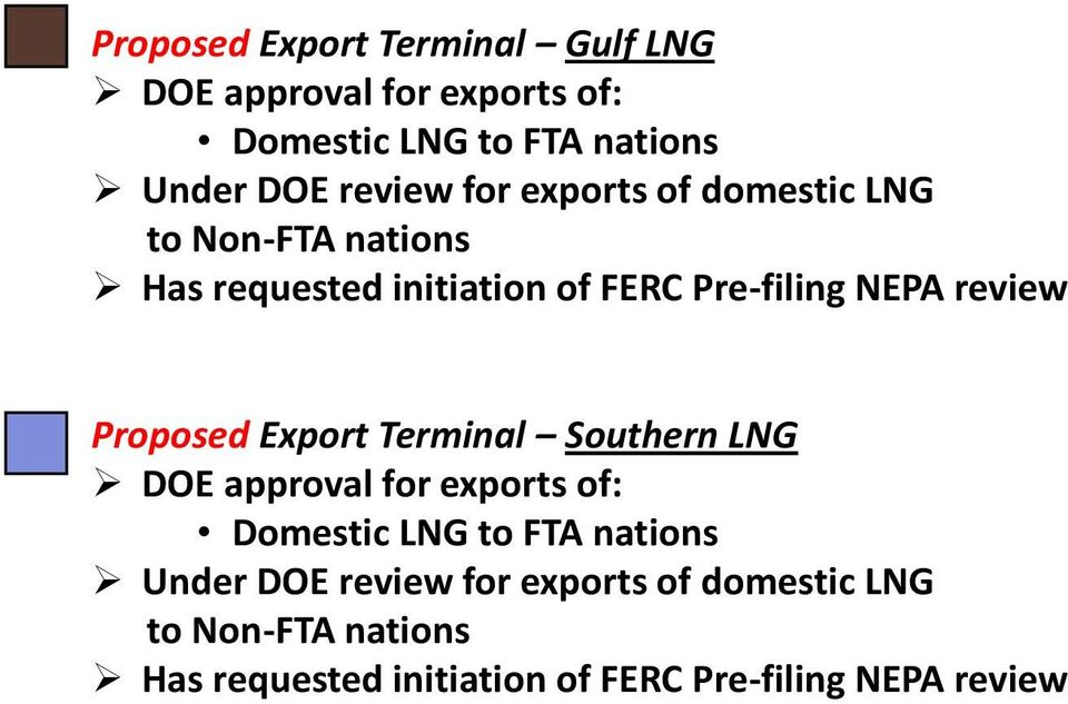review Proposed Export Terminal Southern LNG