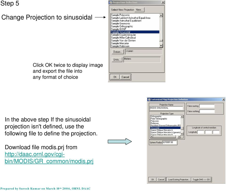 projection isn't defined, use the following file to define the projection.