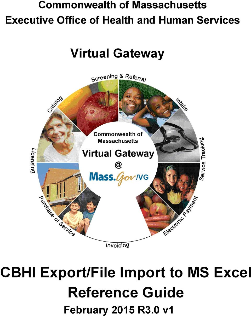 CBHI Export/File Import to MS