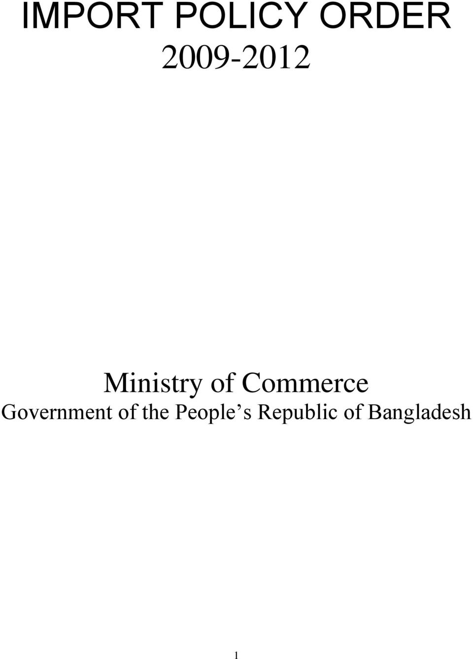 Commerce Government of