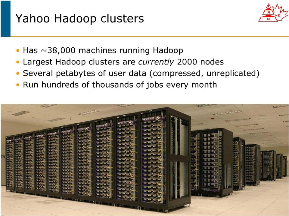 Several petabytes of user data (compressed,