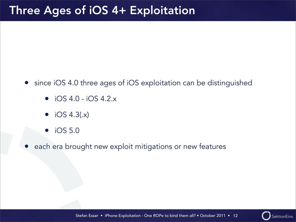 distinguished ios 4.0 - ios 4.2.x ios 4.3(.