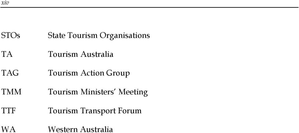 Action Group Tourism Ministers Meeting