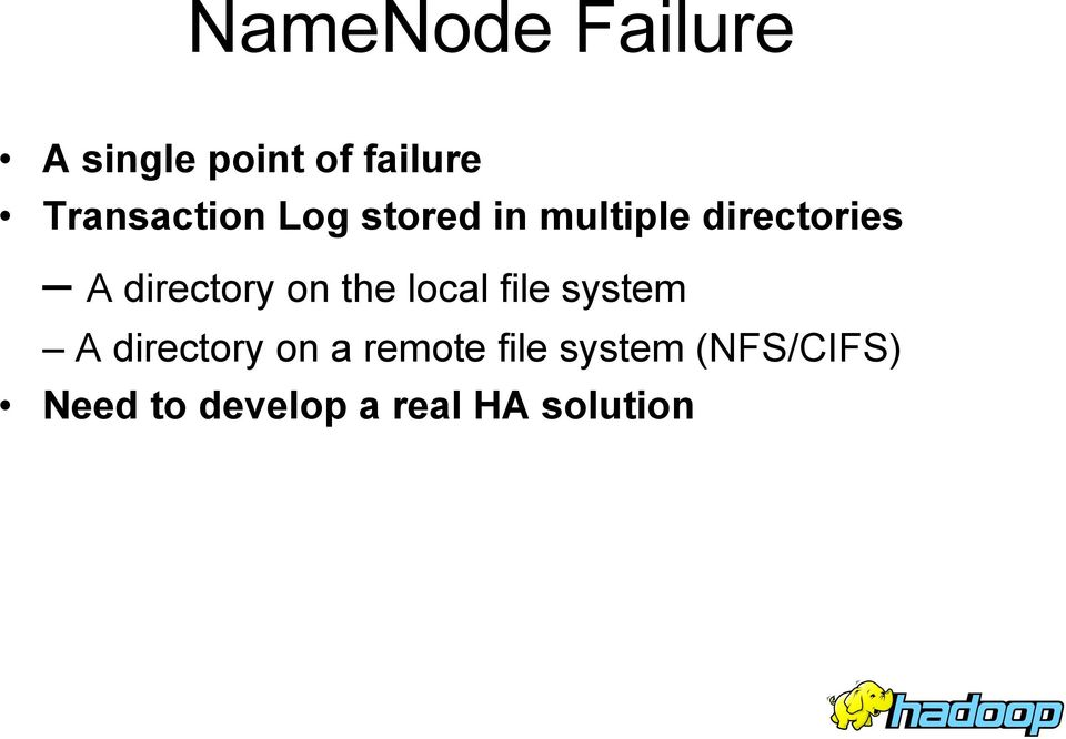directory on the local file system A directory on a