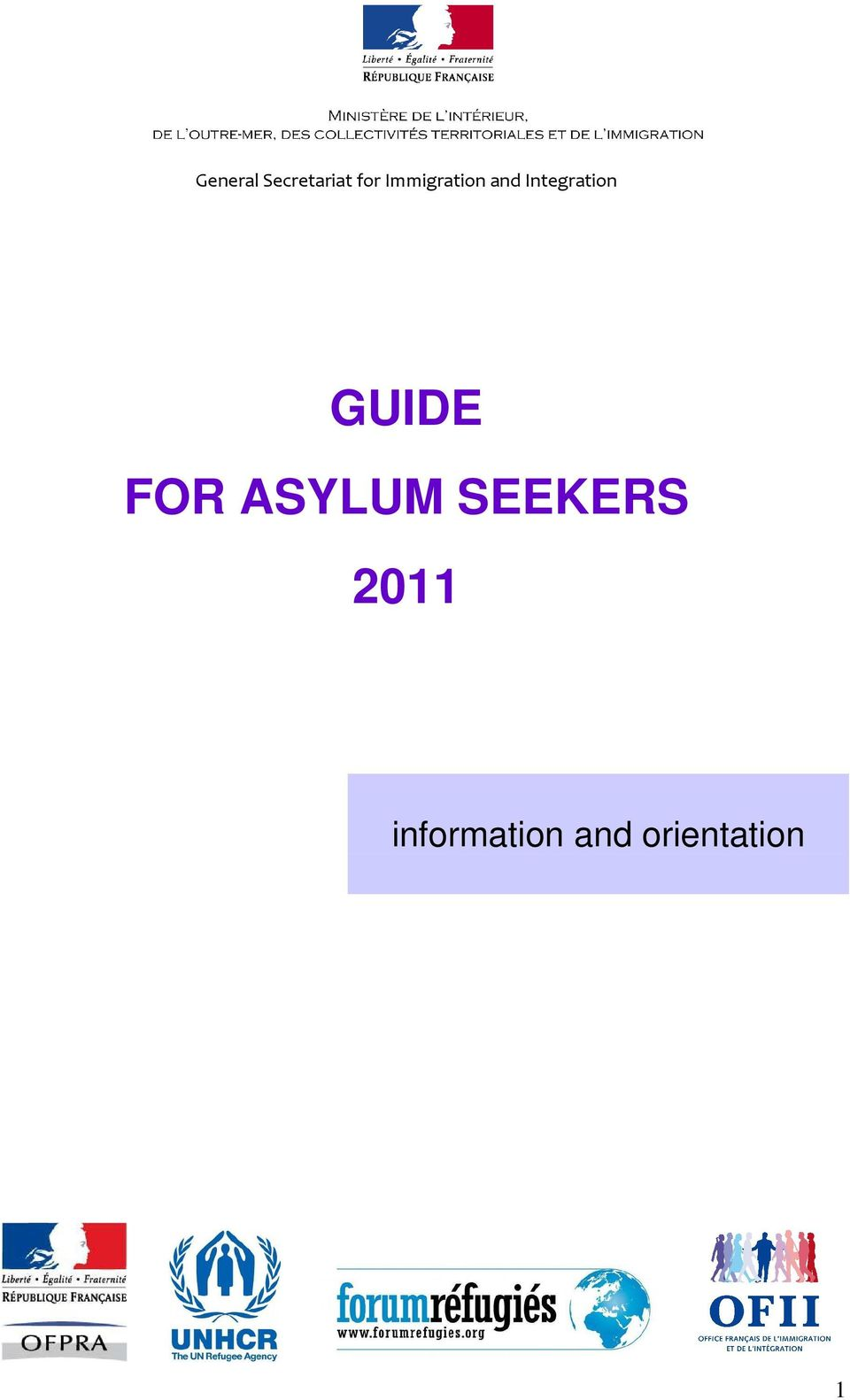 GUIDE FOR ASYLUM SEEKERS