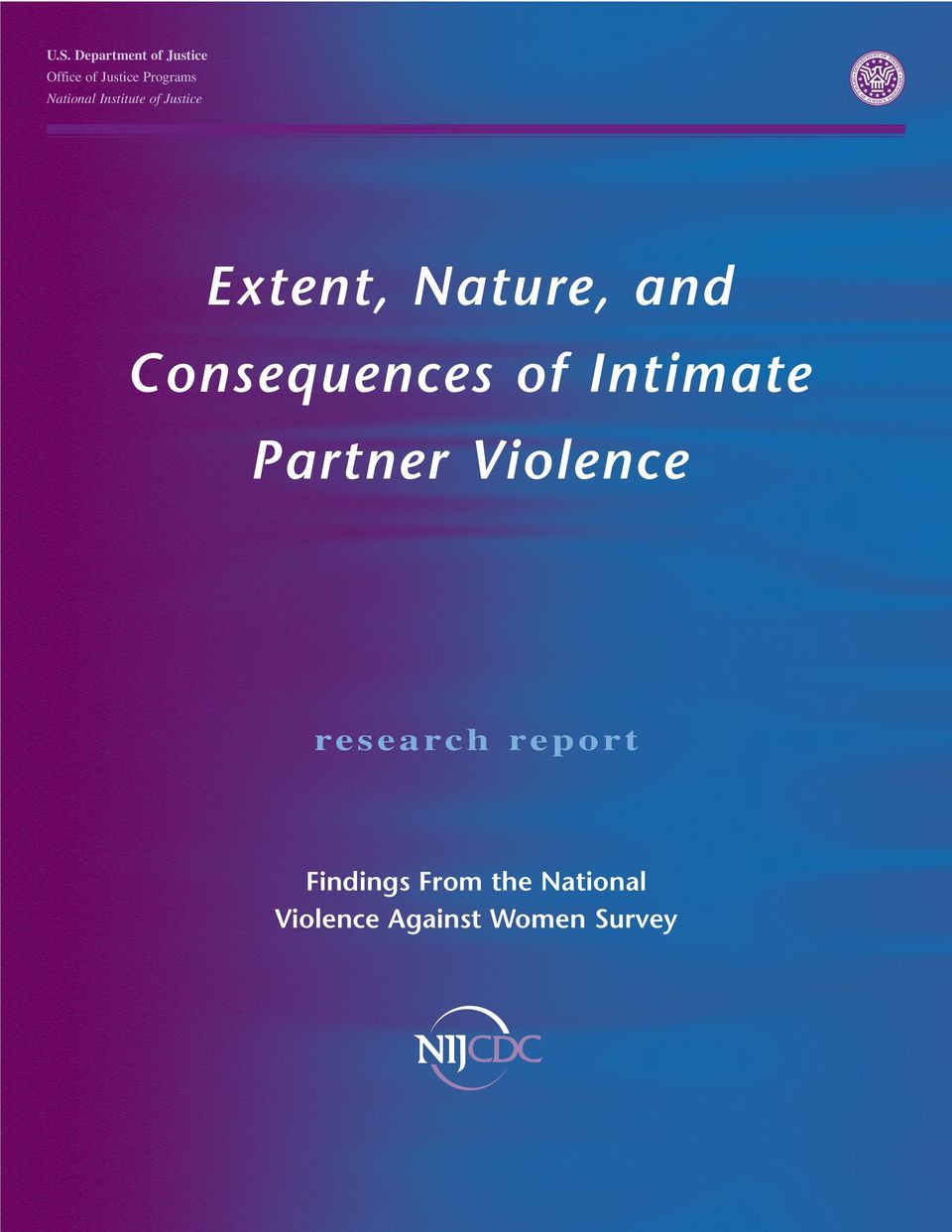 Consequences of Intimate Partner Violence research