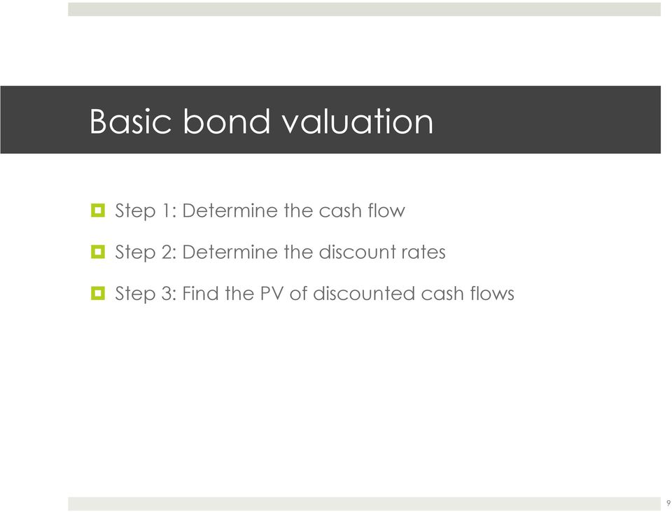 Determine the discount rates Step