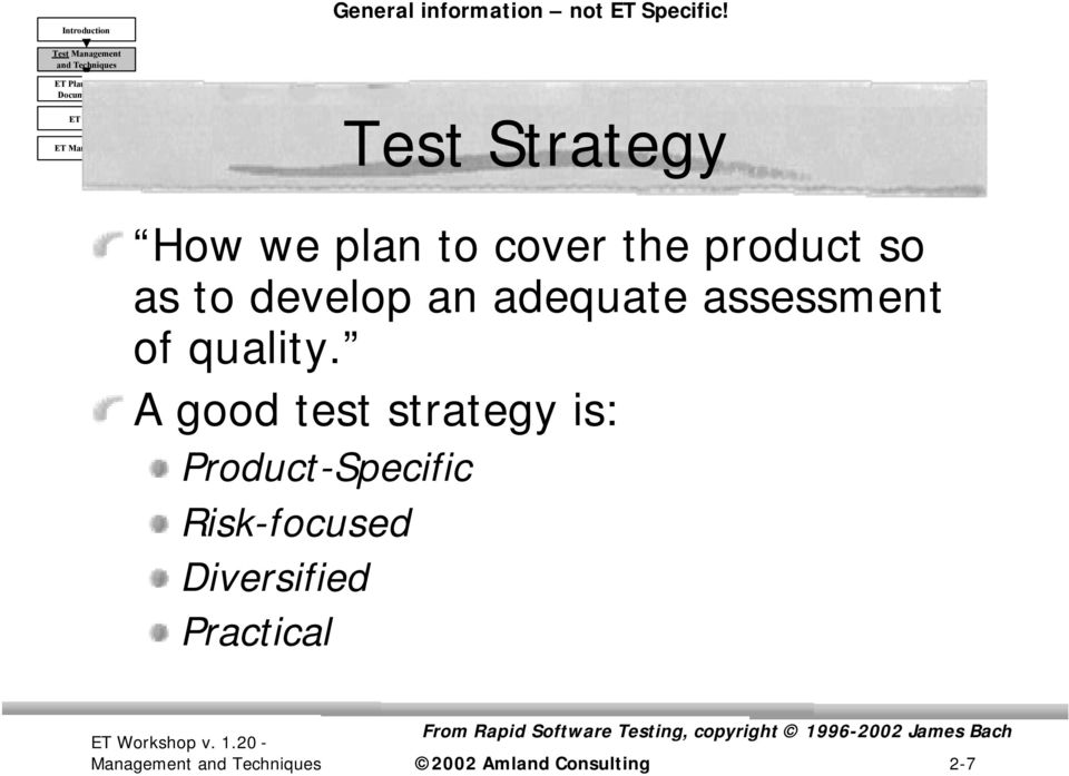 assessment of quality.