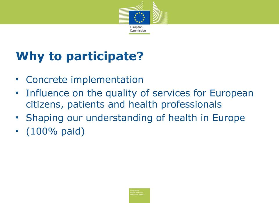 of services for European citizens, patients and